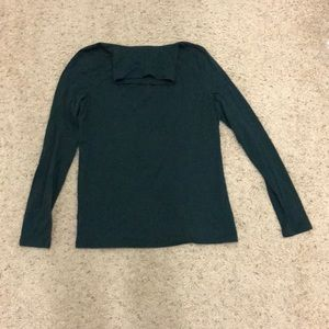 Talbots Forest Green turtle neck long sleeve small